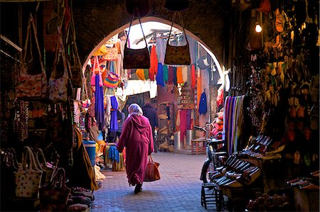 Souk, Marrakech, Morocco, North Africa, Africa Stock Photo - Rights-Managed, Code: 841-07081097