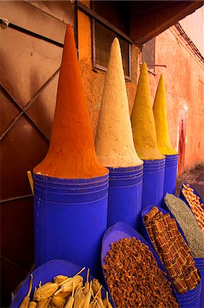 Spice shop, Marrakech, Morocco, North Africa, Africa Stock Photo - Rights-Managed, Code: 841-07081091