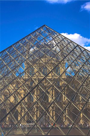 paris - Louvre Pyramid, Paris, France, Europe Stock Photo - Rights-Managed, Code: 841-07081200