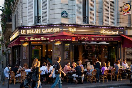 Restaurant in Montmartre, Paris, France, Europe Stock Photo - Rights-Managed, Code: 841-07081213