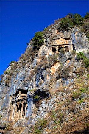 Lycian Rock Tombs, Fethiye, Anatolia, Turkey, Asia Minor, Eurasia Stock Photo - Rights-Managed, Code: 841-07081268