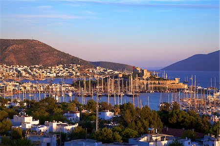 Bodrum Harbour and The Castle of St. Peter, Bodrum, Bodrum Peninsula, Anatolia, Turkey, Asia Minor, Eurasia Stock Photo - Rights-Managed, Code: 841-07081272