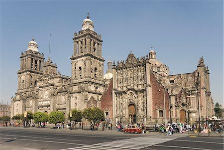 Catedral Metropolitana, Zocalo (Plaza de la Constitucion), Mexico City, Mexico, North America Stock Photo - Rights-Managed, Code: 841-07081588