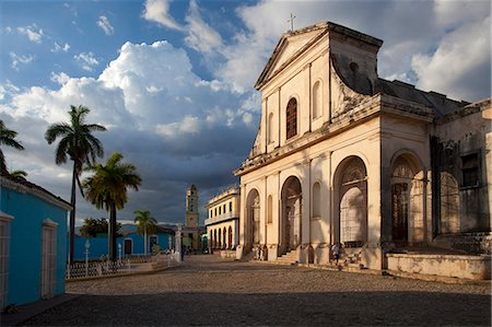 Iglesia del la Santisima Trinidad, the main church in Plaza Mayor, Trinidad, UNESCO World Heritage Site, Cuba, West Indies, Central America Stock Photo - Rights-Managed, Code: 841-07081830