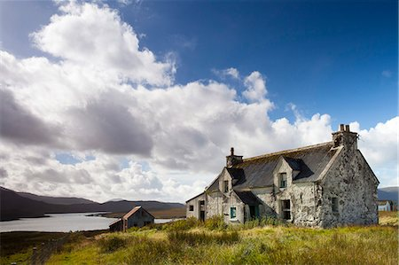 Abandoned croft near the village of Lacasaidh (Laxay), Isle of Lewis, Outer Hebrides, Scotland, United Kingdom, Europe Stock Photo - Rights-Managed, Code: 841-07081848