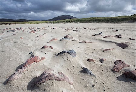 Uig Beach with patterns in the foreground created by wind blowing the sand, Isle of Lewis, Outer Hebrides, Scotland, United Kingdom, Europe Stock Photo - Rights-Managed, Code: 841-07081842