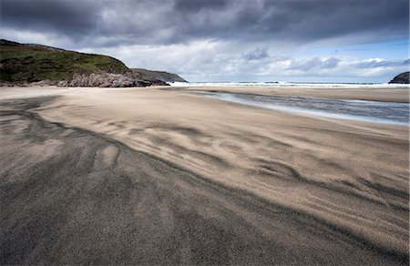 Dalbeg Beach with intricate patterns in the sand, near Carloway, Isle of Lewis, Outer Hebrides, Scotland, United Kingdom, Europe Stock Photo - Rights-Managed, Code: 841-07081854