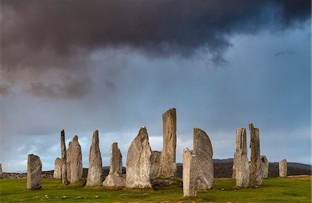 Standing Stones of Callanish, near Carloway, Isle of Lewis, Outer Hebrides, Scotland, United Kingdom, Europe Stock Photo - Rights-Managed, Code: 841-07081851
