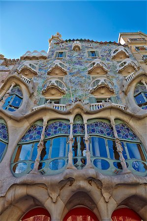 Casa Batllo, UNESCO World Heritage Site, Barcelona, Catalonia, Spain, Europe Stock Photo - Rights-Managed, Code: 841-07081909