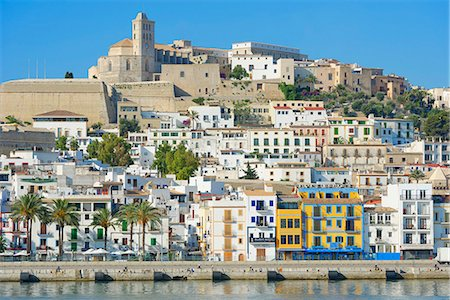 View of Ibiza old town and Dalt Vila, UNESCO World Heritage Site, Ibiza, Balearic Islands, Spain, Mediterranean, Europe Stock Photo - Rights-Managed, Code: 841-07081977
