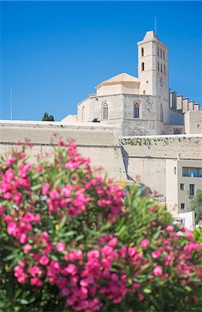 Ibiza Cathedral, Old Town (Dalt Vila), UNESCO World Heritage Site, Ibiza, Balearic Islands, Spain, Europe Stock Photo - Rights-Managed, Code: 841-07081983