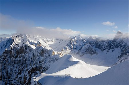 Aiguille du Midi ridge, Chamonix, Haute-Savoie, French Alps, France, Europe Stock Photo - Rights-Managed, Code: 841-07082167