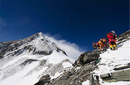 Climbers on the Geneva Spur, Solu Khumbu Everest Region, Sagarmatha National Park, UNESCO World Heritage Site, Nepal, Himalayas, Asia Stock Photo - Rights-Managed, Code: 841-07082239