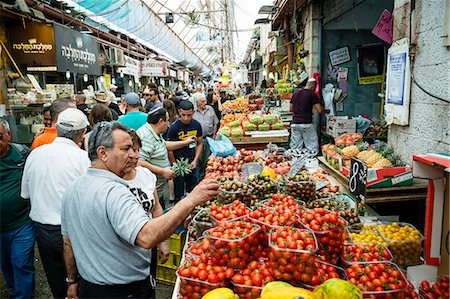 places - Fruit and vegetables stalls at Mahane Yehuda market, Jerusalem, Israel, Middle East Stock Photo - Rights-Managed, Code: 841-07082432