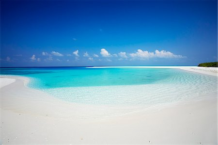 Tropical island and lagoon, Maldives, Indian Ocean, Asia Stock Photo - Rights-Managed, Code: 841-07082739