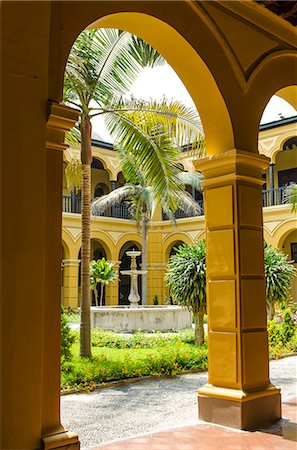 peru and culture - Courtyard of the Convent of Santo Domingo, Lima, Peru, South America Stock Photo - Rights-Managed, Code: 841-07082835