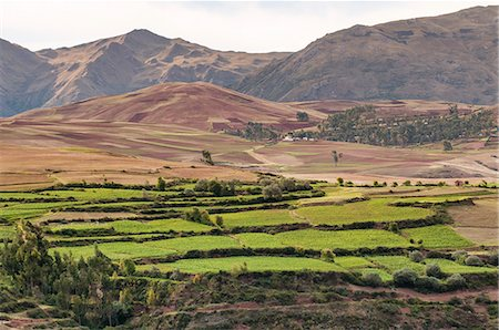 peru and culture - Landscape above the Sacred Valley near Maras, Peru, South America Stock Photo - Rights-Managed, Code: 841-07082876