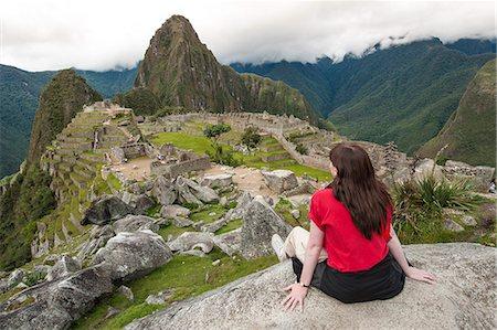 peru and culture - Machu Picchu, UNESCO World Heritage Site, near Aguas Calientes, Peru, South America Stock Photo - Rights-Managed, Code: 841-07082891