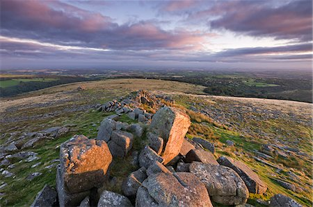 dartmoor national park - Early morning sunlight lights up the granite rocks of Belstone Tor, Dartmoor National Park, Devon, England, United Kingdom, Europe Stock Photo - Rights-Managed, Code: 841-07082900