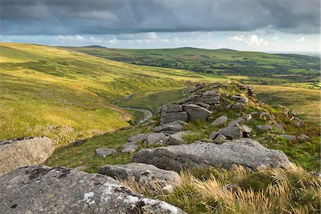 photography - Tavy Cleave viewed from Ger Tor, Dartmoor National Park, Devon, England, United Kingdom, Europe Stock Photo - Rights-Managed, Code: 841-07082935