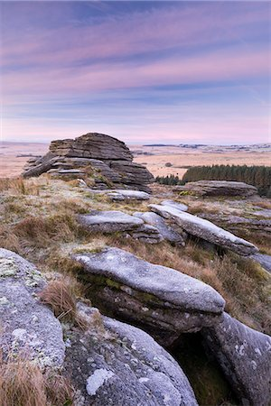 dartmoor national park - Frosty morning at Bellever Tor, Dartmoor National Park, Devon, England, United Kingdom, Europe Stock Photo - Rights-Managed, Code: 841-07082971