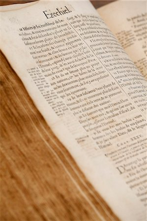 Old Bible, Geneva 1678, Paris, France, Europe Stock Photo - Rights-Managed, Code: 841-07083207