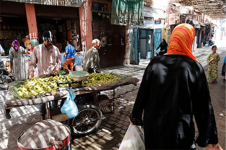A souk in the Medina of Marrakech, Morocco, North Africa, Africa Stock Photo - Rights-Managed, Code: 841-07083307