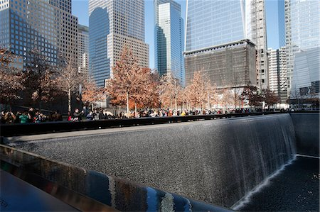 Ground Zero, the National 9/11 Memorial at the site of the World Trade Center in Lower Manhattan, New York, United States of America, North America Stock Photo - Rights-Managed, Code: 841-07083362