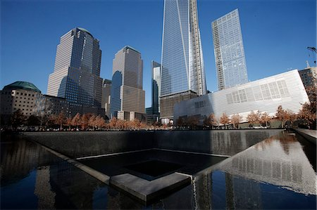 Ground Zero, the National 9/11 Memorial at the site of the World Trade Center in Lower Manhattan, New York, United States of America, North America Stock Photo - Rights-Managed, Code: 841-07083363