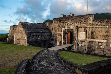 Brimstone Hill Fortress, UNESCO World Heritage Site, St. Kitts, St. Kitts and Nevis, Leeward Islands, West Indies, Caribbean, Central America Stock Photo - Rights-Managed, Code: 841-07083408
