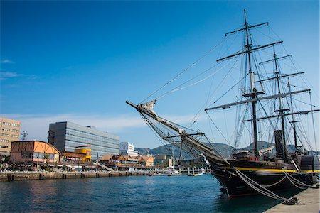 ships at sea - Old sailing ship, harbour of Nagasaki, Kyushu, Japan, Asia Stock Photo - Rights-Managed, Code: 841-07083684