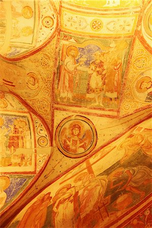 painting - Ninth-century Christian frescoes, crypt ceiling, the Basilica of Santa Maria Assunta, Aquileia, Friuli-Venezia Giulia, Italy, Europe Stock Photo - Rights-Managed, Code: 841-07083771