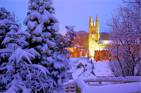 Cathedral of the Peak in snow, Tideswell, Peak District National Park, Derbyshire, England, United Kingdom, Europe Stock Photo - Rights-Managed, Code: 841-07083903