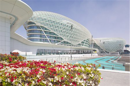 Viceroy Hotel and Formula 1 Racetrack, Yas Island, Abu Dhabi, United Arab Emirates, Middle East Stock Photo - Rights-Managed, Code: 841-07083921