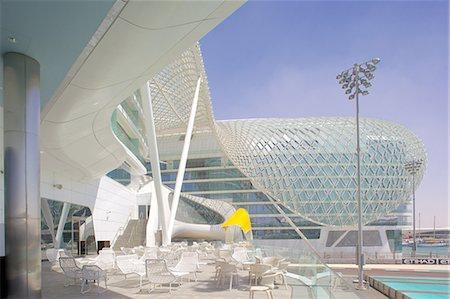 futuristic - Viceroy Hotel, Yas Island, Abu Dhabi, United Arab Emirates, Middle East Stock Photo - Rights-Managed, Code: 841-07083922