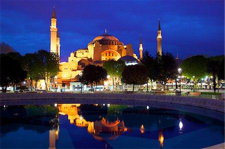 Hagia Sophia (Aya Sofya Mosque) (The Church of Holy Wisdom), UNESCO World Heritage Site, at sunrise, Istanbul, Turkey Stock Photo - Rights-Managed, Code: 841-07204344