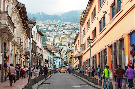 street - Chile Street, Quito Historical Center, Quito, UNESCO World Heritage Site, Pichincha Province, Ecuador, South America Stock Photo - Rights-Managed, Code: 841-07204384