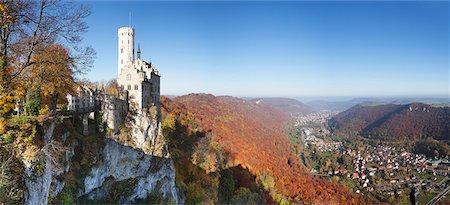 Lichtenstein Castle in autumn, Swabian Alb, Baden Wurttemberg, Germany, Europe Stock Photo - Rights-Managed, Code: 841-07204470