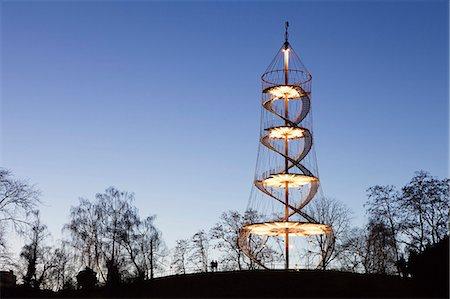 Killesbergturm tower, Stuttgart, Baden Wurttemberg, Germany, Europe Stock Photo - Rights-Managed, Code: 841-07204482