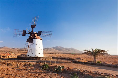 Windmill, El Cotillo, Fuerteventura, Canary islands, Spain, Atlantic, Europe Stock Photo - Rights-Managed, Code: 841-07204569