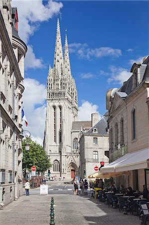Saint Corentin Cathedral, Quimper, Finistere, Brittany, France, Europe Stock Photo - Rights-Managed, Code: 841-07204585