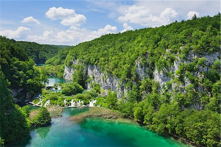 Gavanovac Lake and Milanovac Lake, Plitvice Lakes National Park, UNESCO World Heritage Site, Croatia, Europe Stock Photo - Rights-Managed, Code: 841-07204615