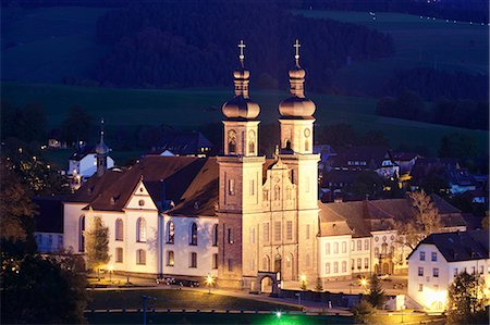 Klosterkirche, (Abbey of St. Peter), Glottertal, Schwarzwald, Baden Wurttemberg, Germany, Europe Stock Photo - Rights-Managed, Code: 841-07204755