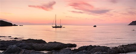 france - Sunset at the coast of Centuri Port, Corsica, France, Mediterranean, Europe Stock Photo - Rights-Managed, Code: 841-07204797