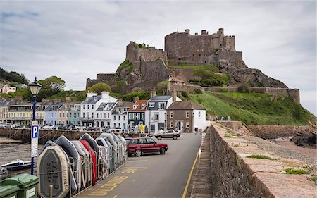 Gorey Castle (Mont Orgueil Castle) and Harbour, Jersey, Channel Islands, United Kingdom, Europe Stock Photo - Rights-Managed, Code: 841-07205187