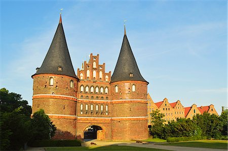 Holstentor, Lubeck, UNESCO World Heritage Site, Schleswig-Holstein, Germany, Europe Stock Photo - Rights-Managed, Code: 841-07205462