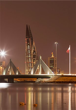Manama at night, Bahrain, Middle East Stock Photo - Rights-Managed, Code: 841-07205589