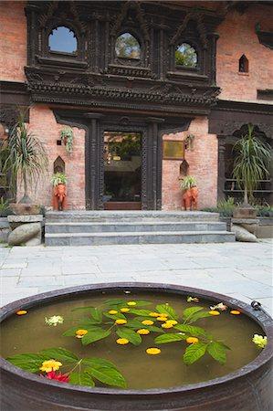 Grounds of Dwarika's Hotel, Kathmandu, Nepal, Asia Stock Photo - Rights-Managed, Code: 841-07205802