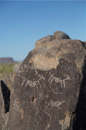 prehistoric - Petroglyphs, created by the prehistoric Hohokam people, about 1000 years ago, West-Tucson Mountain District, Saguaro National Park, Arizona, United States of America, North America Stock Photo - Rights-Managed, Code: 841-07205826