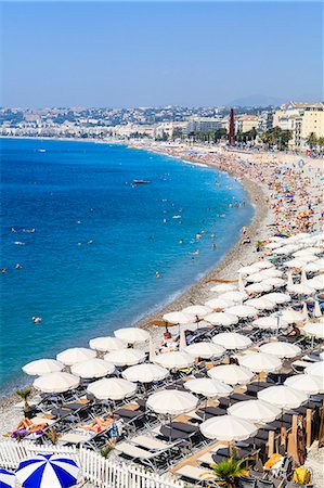 french (places and things) - Baie des Anges and beach, Nice, Alpes Maritimes, Provence, Cote d'Azur, French Riviera, France, Mediterranean, Europe Stock Photo - Rights-Managed, Code: 841-07205897